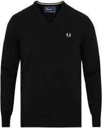 Fred Perry Merino Wool V-Neck Pullover Black men XL Sort