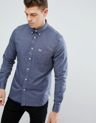 Fred Perry One Pocket Oxford Shirt in Navy - Navy