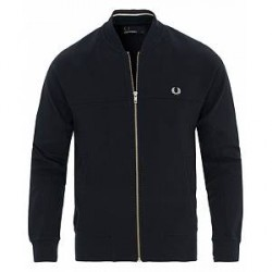 Fred Perry Panneled Bomber Full Zip Navy