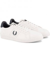 Fred Perry Park Side Leather Sneaker White/Navy men 40 Hvid