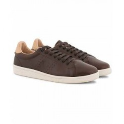Fred Perry Parkside Leather Sneaker Dark Brown