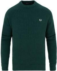 Fred Perry Ribbed Crew Neck Jumper Dark Pine men M