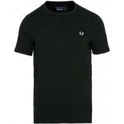 Fred Perry Ringer Crew Neck Tee Black