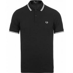 Fred Perry Slim Fit Polo Twin Tip Black