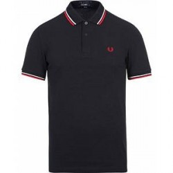 Fred Perry Slim Fit Polo Twin Tip Navy