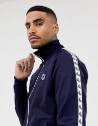 Fred Perry Sports Authentic taped track jacket in navy - Navy