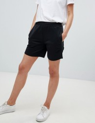 Fred Perry Track Short With Logo Tape Detail - Black