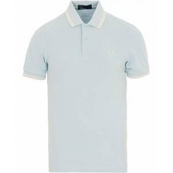Fred Perry Twin Tip Polo Sky Blue