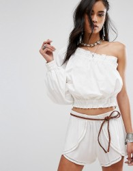 Free People Anabelle Asymmetrical Top - White