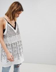 Free People Arizona Nights Embellished Tunic Top - White
