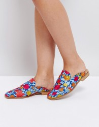 Free People Brocade At Ease Loafer - Blue