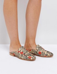 Free People Brocade Loafer With Embroidery And Sequin Detail - White