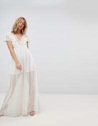 Free People Chleo Embroidered Maxi Jumpsuit - Cream