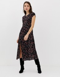 Free People Corrie ditsy floral print maxi dress - Black