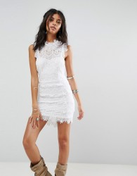 Free People Daydream Bodycon Lace Dress - White