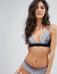 Free People Fool's Gold Ombre Lace Underwire Bra - Black