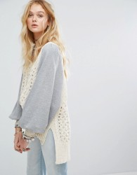 Free People Hideaway Cable Knit Jumper - White