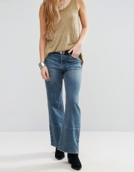 Free People Hopkin High Rise Cropped Flared Jeans - Blue