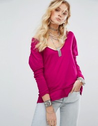 Free People Magic Double Layer T-Shirt - Pink