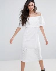 Free People Most Beautiful Off Shoulder Midi Dress - White