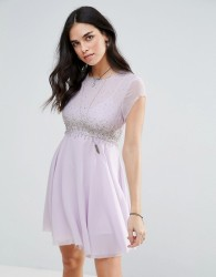 Free People Rock Candy Embllished Party Dress - Purple