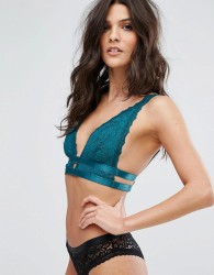 Free People Soft Triangle Bra with Strap Detailing - Green