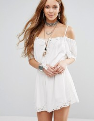 Free People White Romance Playsuit - White