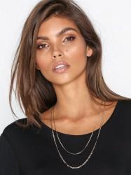 Freedom by Topshop Multirow Chain Necklace Halskæde Gold