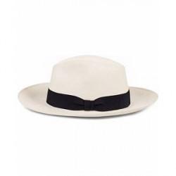 Frescobol Carioca Panama Hat Navy Blue Ribbon