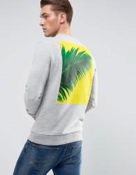 Friend or Faux Astle Back Print Sweater - Grey