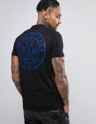 Friend or Faux Avalon Back Print T-Shirt - Black