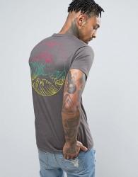 Friend or Faux El Nino Back Print T-Shirt - Grey