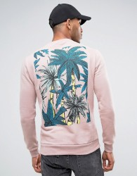 Friend or Faux Hayhurst Back Print Sweater - Pink