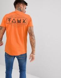 Friend or Faux Limitless Back Print T-Shirt - Orange