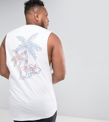 Friend or Faux PLUS Abrahams Printed Vest - White