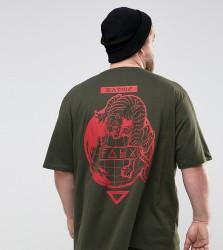 Friend or Faux PLUS Caddick Printed T-Shirt - Green