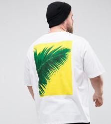Friend or Faux PLUS Fletcher Printed T-Shirt - White