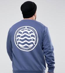 Friend or Faux PLUS Hegg Printed Sweatshirt - Blue