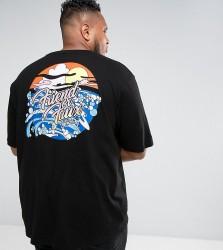 Friend or Faux PLUS Illingworth Printed T-Shirt - Black