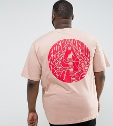Friend or Faux PLUS May Printed T-Shirt - Pink