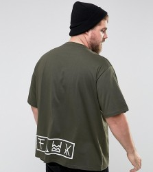 Friend or Faux PLUS Prior Printed T-Shirt - Green