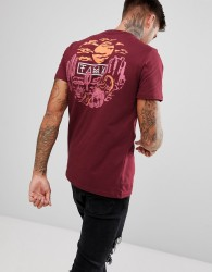 Friend or Faux Rattler Back Print T-Shirt - Red