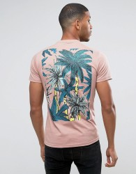 Friend or Faux Stewart Back Print T-Shirt - Pink
