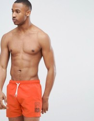 Friend or Faux Swim Short - Orange