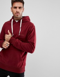 Friend or Faux Symbl Embroidered Logo Hoodie - Red