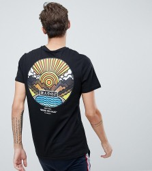 Friend or Faux Tall Wakayama Back Print T-Shirt - Black