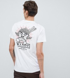 Friend or Faux Tall Wings Back Print T-Shirt - White
