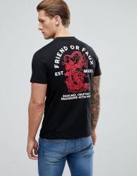 Friend or Faux Tong Thai Back Print T-Shirt - Black