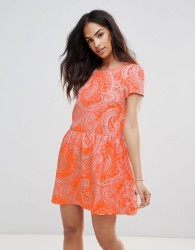 FRNCH Paisley Dress - Orange