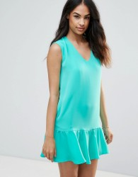 FRNCH Pep Hem Dress - Green